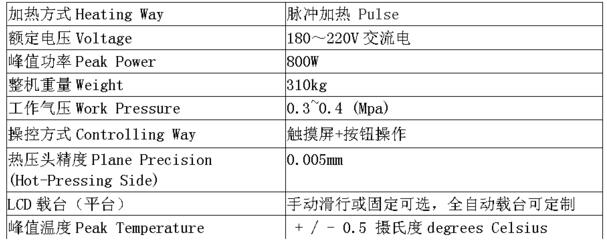 H998-07A脉冲式热压机修屏机